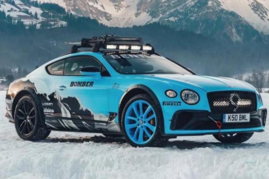 مسابقات یخی با بنتلی کنتیننتال GT